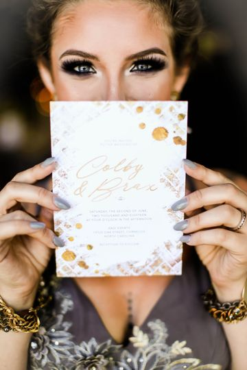 Gold Grunge wedding