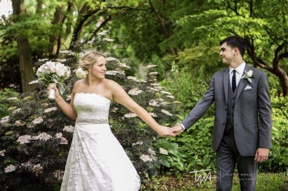 Couple holding on