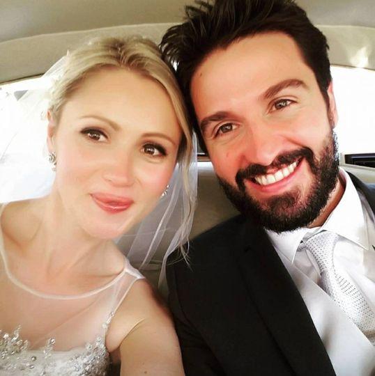 Post-wedding selfie
