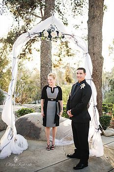 The groom and officiant