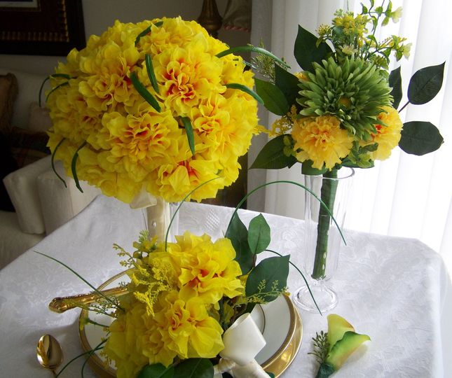 Yellow floral decor