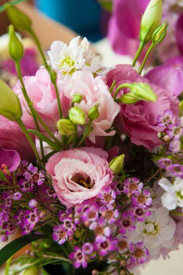 Fresh Calla liillies,stock,Pink Wax flowers with Bear Grass.