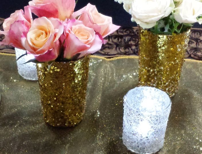 Small Votive & Roses