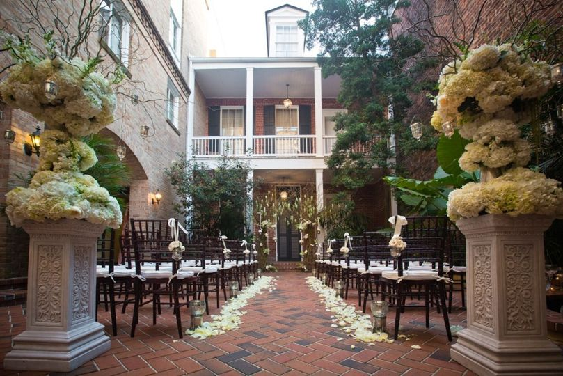 Outdoor ceremony wedding set-up