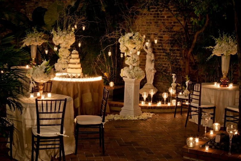 Courtyard with table setting