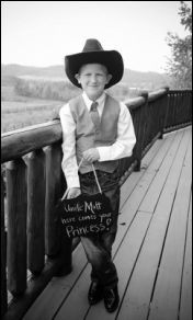 Cowboy ring bearer