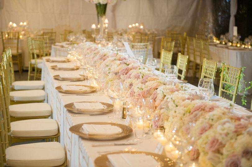 549b05f60b9090f5 1438284360752 floral garland table runner hydrangea fresia ivo