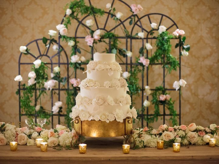 Tmx 1470418454154 Cake Table Decor Floral Garland Metal Screen Back  New Orleans, LA wedding florist