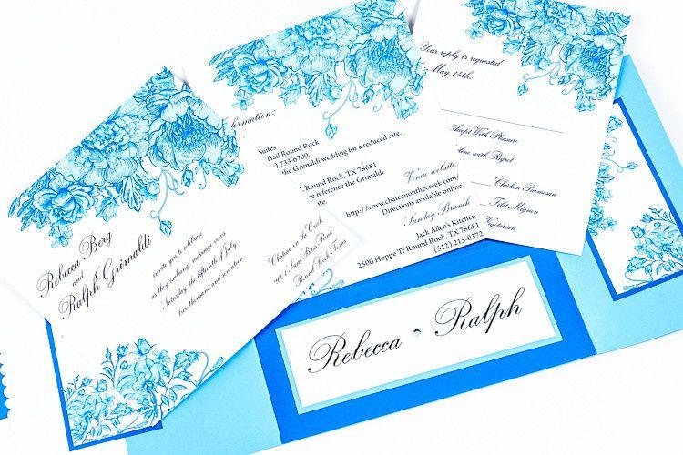 Blue floral theme