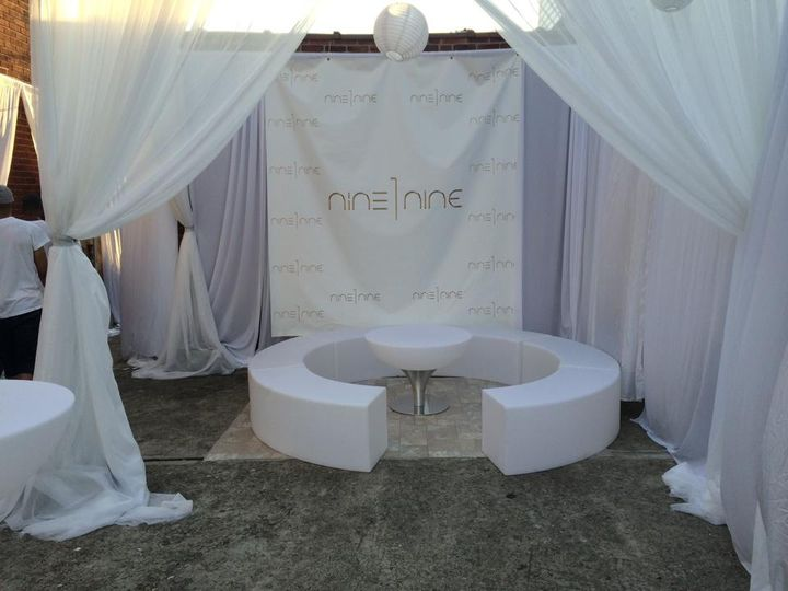 All White Draping