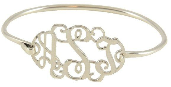 Monogrammed Bracelet - a great gift idea for the brides new monogram or to give the bridesmaids....