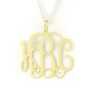 Tmx 1302382738459 Hsmediumgoldtonemonogrammednecklace Wake Forest wedding jewelry
