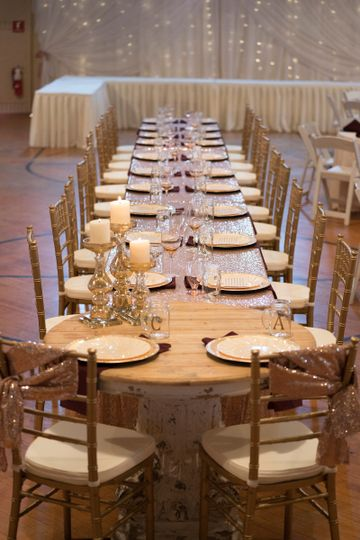 Rose gold Head Table