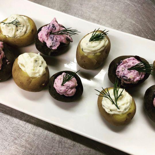 Stuffed potato bites