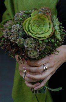 Bridesmaid Bouquet, succulents
