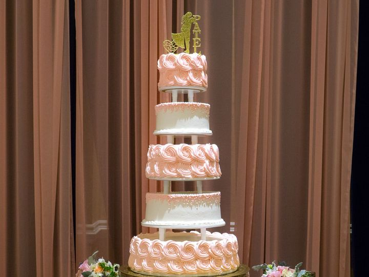 Tmx 1519259888 3e7bcee2601da15b 1519259887 A6b1689b80a6bd19 1519259858717 18 Pink 5 Tier Roset Fullerton, California wedding cake