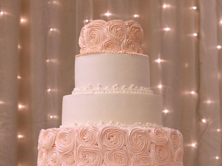 Tmx 1519259957 918fc7be736c36ee 1519259956 Cc5798c00ec28ffa 1519259920795 25 Pink Rosette Wedd Fullerton, California wedding cake
