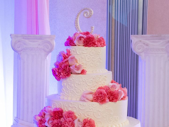 Tmx 1519259958 809d5c89432fd020 1519259955 5d1dff43220803cb 1519259920793 24 Pink Red Flowers  Fullerton, California wedding cake