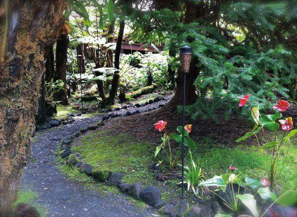 path to wedding pavilion