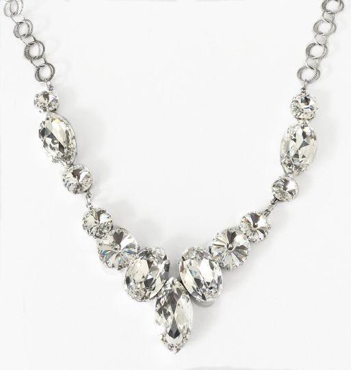 rhinestone marquis necklace 1