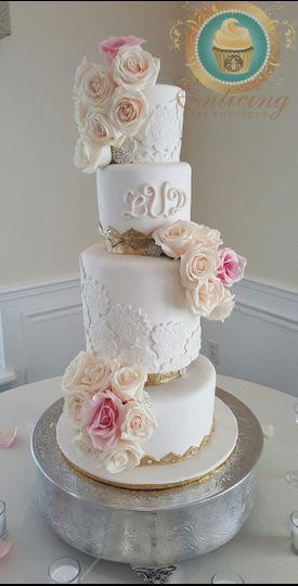 enticingcakeboutiqueroyal rose wedding cake
