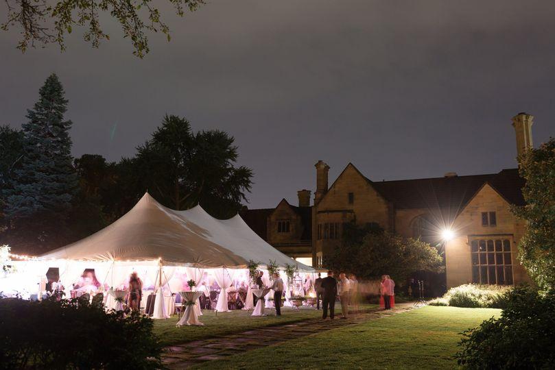 Evening tent setup | Maison Meredith Photography