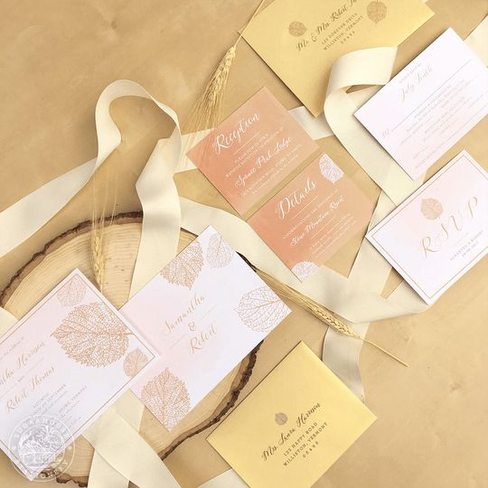 ACADIA Grade-A Invitation Suite & Stationery designs inspired by the beauty of Acadia National Park....