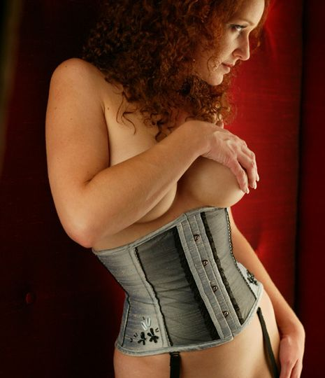 A waist cincher to lose those last couple of inches and nip you in. Something blue... only you and...