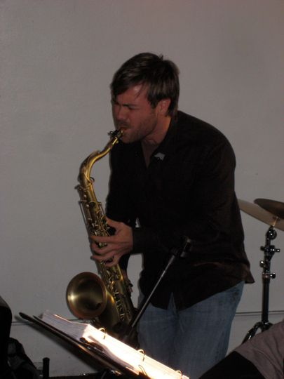 On the saxophone