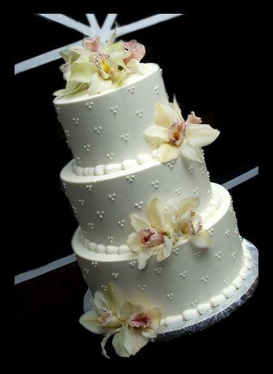 Floral round cake