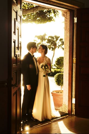 Couple by the doorway