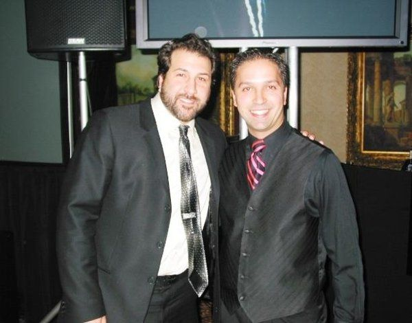Frank & Joey Fatone at his cousins wedding