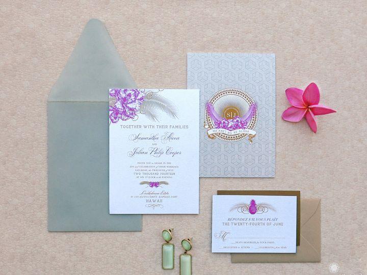 Tmx 1418785475491 Jmdhawaiianelegancesuite Glendora wedding invitation