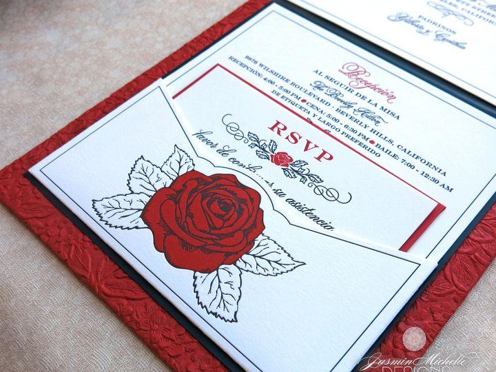 Tmx 1418845244127 Jmdteresasweet15pocketdetailwm Glendora wedding invitation