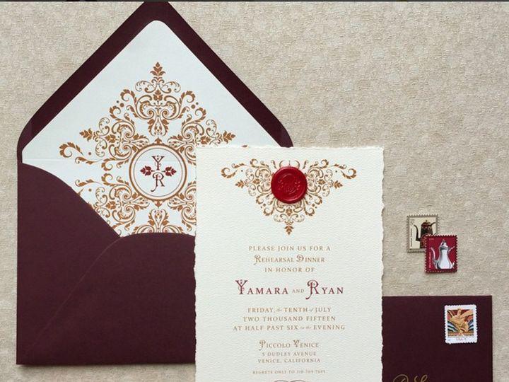 Tmx 1473226666700 Jmdoldworldrehearsaldinner Glendora wedding invitation