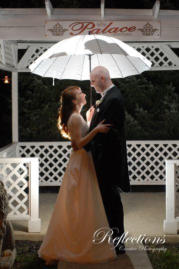 Dancing with an umbrella