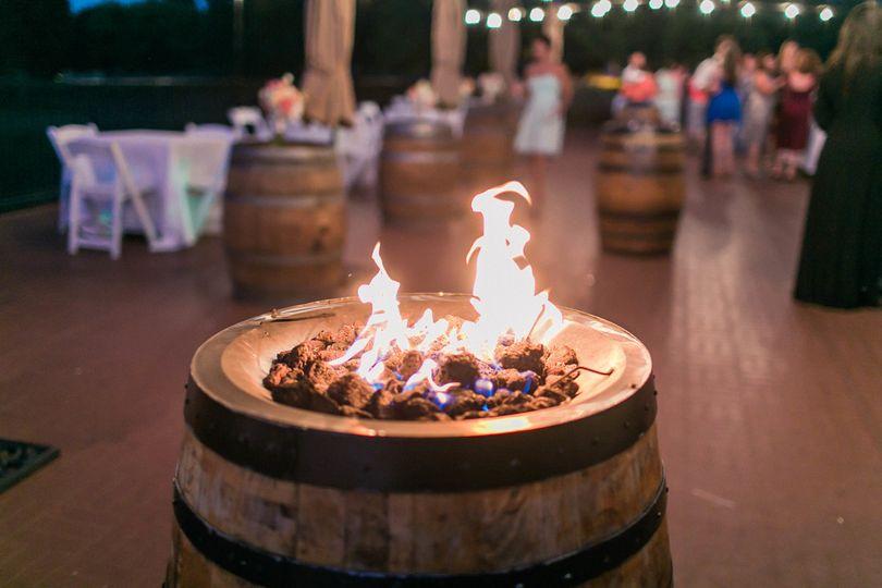 3 Wine barrel fire pits