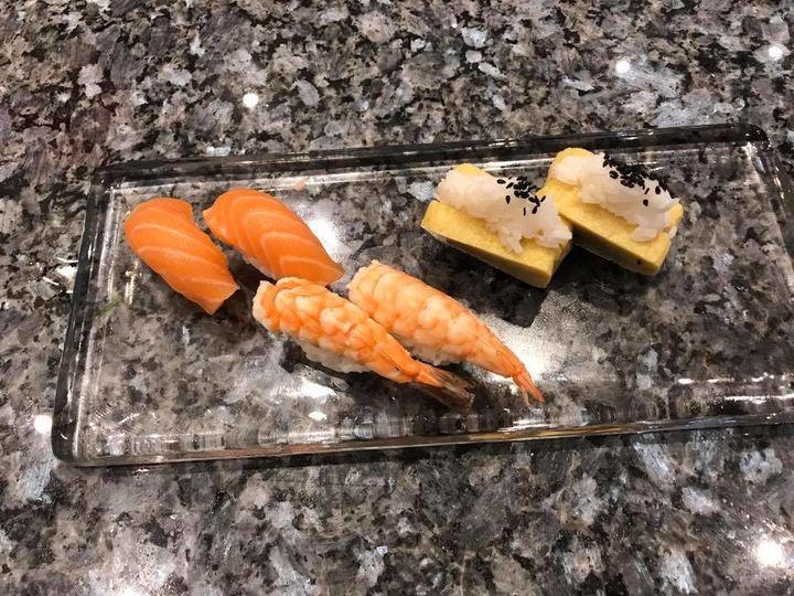 Salmon, Shrimp and Tamago