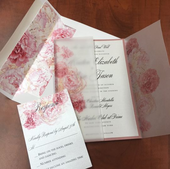 Blush Floral Vellum Design