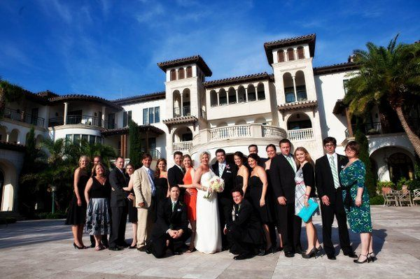 Tiffany and her bridal party at the Cloister, Sea Island
