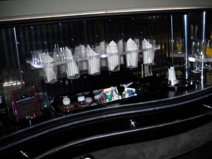 Beautiful refreshments in each and every limousine