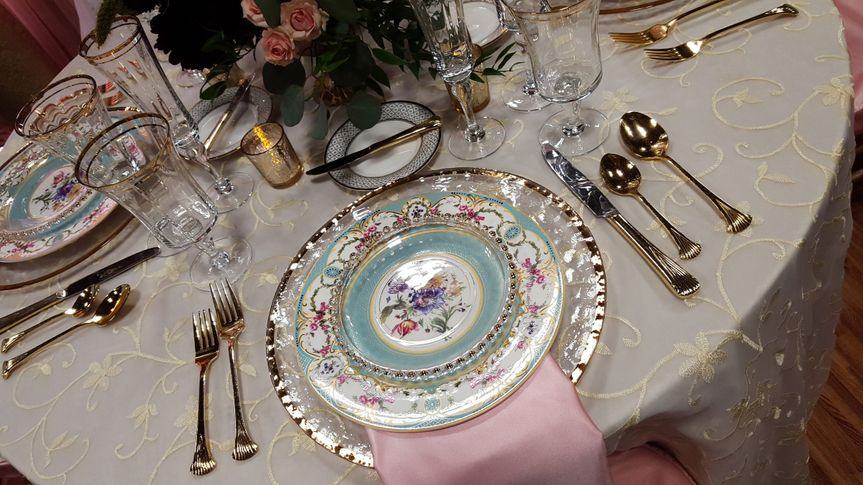 Plates and silverware