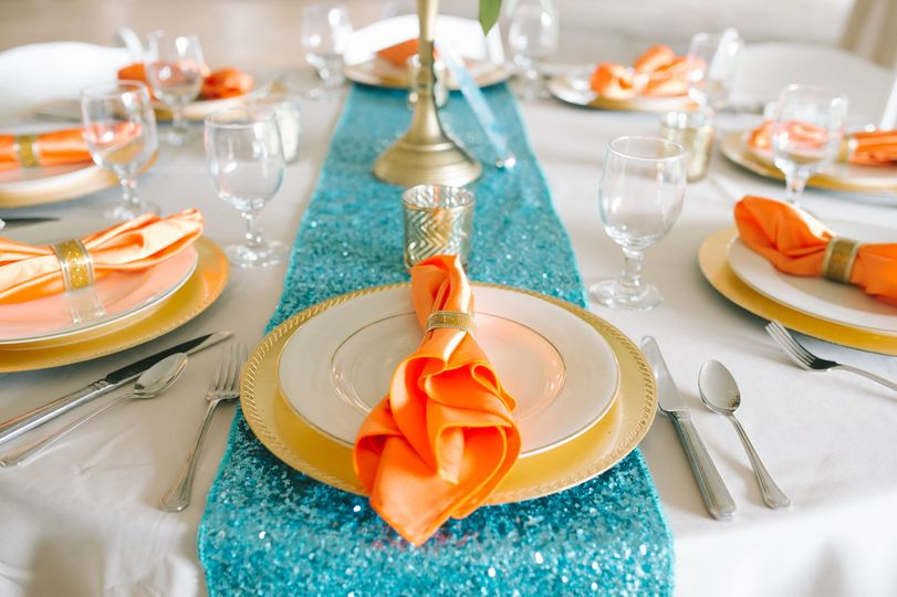 Blue and orange themed