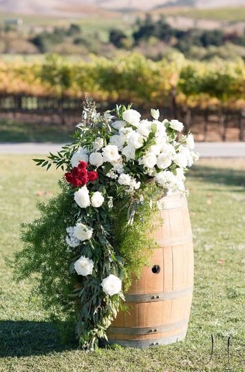 Vineyard wine barrel