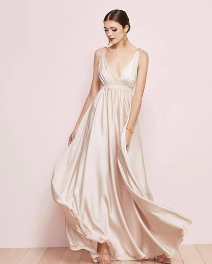 Silky gown