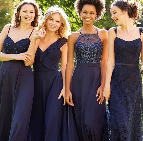 Navy gowns