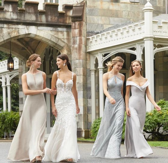 Bridal party on a walk