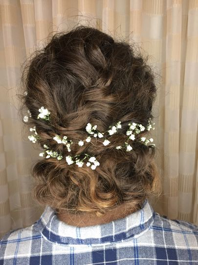 Romantic Updo w Baby's Breath