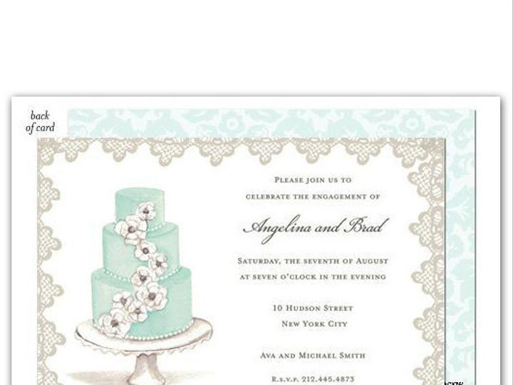 Tmx 1414505843064 Bonniemarcus2 Montvale wedding invitation
