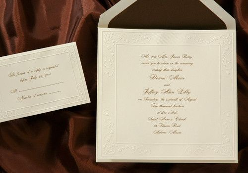 Tmx 1414505859929 Birchcraft24 Montvale wedding invitation